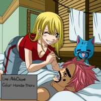 Fairy tail nalu chapter cover 280 -colour-. by Honda-Thoru