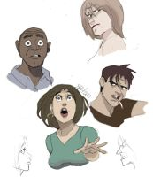 Faces and Expressions by bleyerart