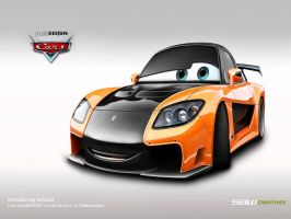 Disney Cars-Mazda RX7 Veilside by yasiddesign