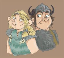 Astrid and Snotlout OTP by sophiecabra
