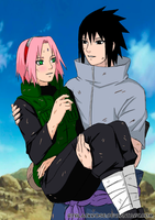 SasuSaku I need you (color version) by byBlackRose