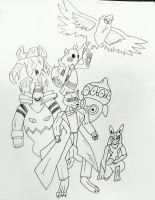 A Trainer and His Pokemon-Inked by AceOfKeys72