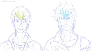 Abel and Cain-starfighter by chwee