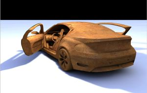 BMW-z9 Clay model WiP by artsoni