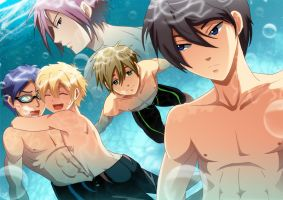 FREE - Invaders in my pool by akayashi