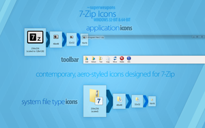 7-Zip 9.32 Icons by superweapons