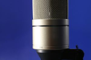 Stock pict of a Microphone by MonkeySensei