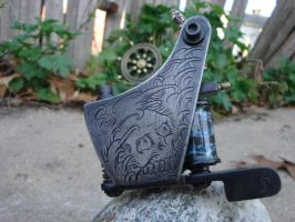engraved tattoo machine by blksun