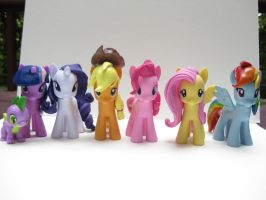 My Little Pony Mane 6 custom figures! by alltheApples