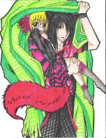 Chione-sama and Venchi-dono by Wolf-Lycanthrope