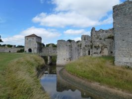 Moat and towers by photodash