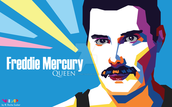 Freddie Mercury of Queen in WPAP by The-End-of-the-Tales