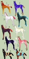 Fantasy Foal Adoptables - Discounted! by daughterofthestars