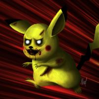 Pokemon Zombies Pikachu detail by Neef