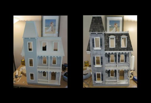 Haunted Dollhouse Progression by MiniCarly