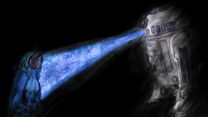 My Hope Leia and R2D2 from Starwars by StrengthHonorLove
