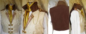 Steampunk inspired waistcoat by JanuaryGuest