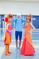 Adventure Time: Flame Kids and Finn the Human II by xXSnowFrostXx
