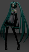 Miku Blender progress by MrSide