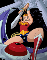 Wonder Woman kills Starro by Glee-chan