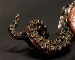 octopus tentacle sculpture by bronze4u