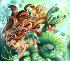 Mermaid of the Green Sea by Equifox