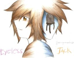 EYELESS JACK COLORED PENCIL by superenguanapianist