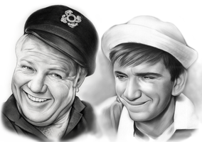 The Skipper and Gilligan by gregchapin