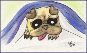 Sleepy Puggy by Starchasm