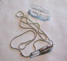 Silver Wrapped Crystal Bullet by mymysticgems