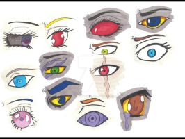 Manga and homestuck eyes(scanned) by Black8blood8YoLo
