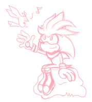 Silver the Hedgehog Sketch by JamesmanTheRegenold