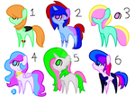 Mlp Adoptables 4 CHEAP 2-4 POINTS OPEN 4/6 by PinkiePieKatLover