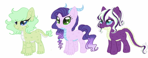 Sparity Foals for IRL-SnowQueenRarity by luxrayfan33
