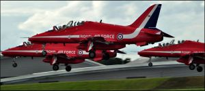 Red Arrows Take off 7 / FAS 2012 by Somebody-Somewhere