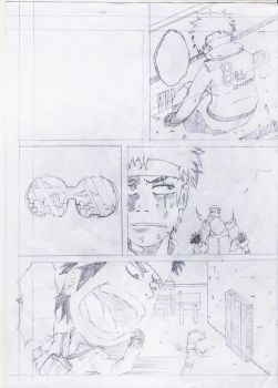 original manga cancelled oneshot sketch page by Harryboy755