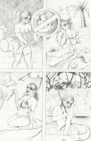 DC Comics 2013 Talent Search Harley Pencils by ayelid