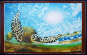 sea turtle by charlieinabox