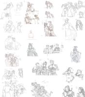 Compilation of Korra Sketches by TsubasaNoUmi