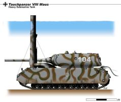 Tauchpanzer VIII Maus by nicksikh