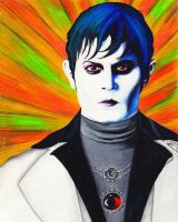 Barnabas Collins - Modern 70's Pop Art Portrait by KatiaZhukova