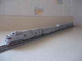 Chicago Burlington and Quincy commuter train by Starfox2o12