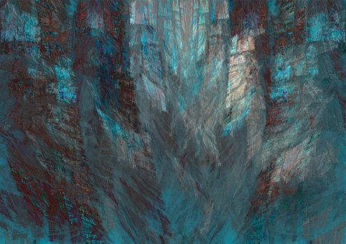 Abstract Blue by PaulineMoss