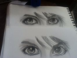 PRACTICING EYES by LittleChewrrie