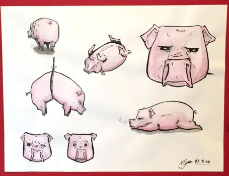 The Pig by macadoodledoo
