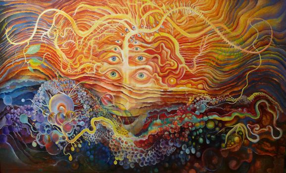 Symbiosis (oil on canvas) by plaser3
