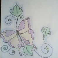 butterfly and ivy by groverismypuppy