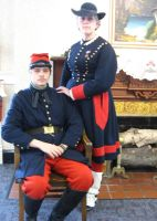 Zouave Officer and Vivandiere by WestytheTraveler