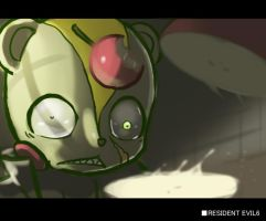 HTF RESIDENT EVIL 6 Nutty:my apple..... by KickTyan