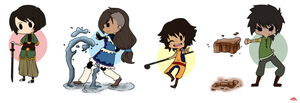 ATLA Chibis by TilForeverEnds